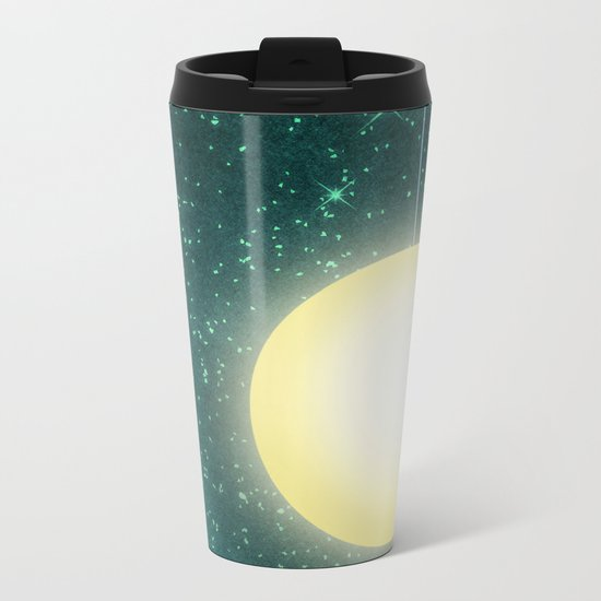 Moon & Stars 03 Metal Travel Mug
