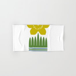 Nordic Yellow Flower Hand & Bath Towel