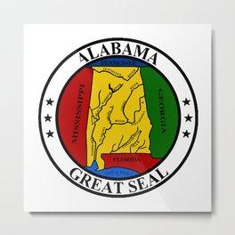 Alabama State Seal Metal Print