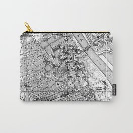 Vintage Map of Warsaw Poland (1914) BW Carry-All Pouch