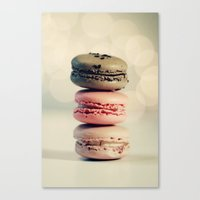 macarons Canvas Prints featuring macarons . . . by [o] Suze q