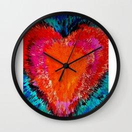 Red Heart Art - Modern Love by Sharon Cummings Wall Clock