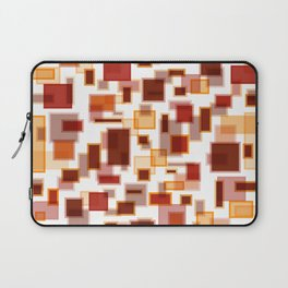 Red Abstract Rectangles Laptop Sleeve