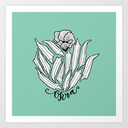 The Bloom of Okra Art Print