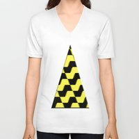 yellow pattern V-neck T-shirts featuring Yellow and black pattern by LoRo  Art & Pictures