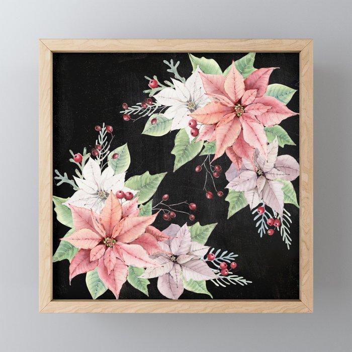 Poinsettia Framed Mini Art Print