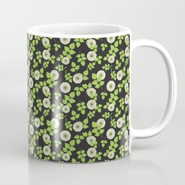 Midnight Garden - White Roses Coffee Mug