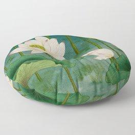 Lotus flowers A -  Minhwa-Korean traditional/folk art Floor Pillow