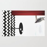 twin peaks Area & Throw Rugs featuring Twin Peaks by Anna Lindner
