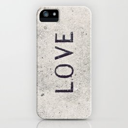 Love Stone Photography - Love Carved in Stone - Zen Meditation Art iPhone Case
