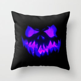 Blue Demon Nightmare Throw Pillow
