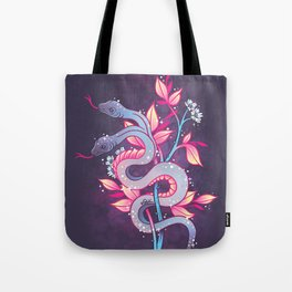 Two Headed Snake Tote Bag