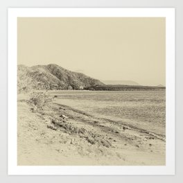 Tranquil bay view in sepia Art Print