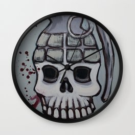 war is peace Wall Clock