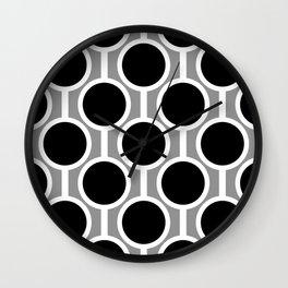 Retro-Delight - Simple Circles - White Grey Wall Clock