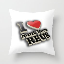 I Love Sant Pere de Reus Throw Pillow