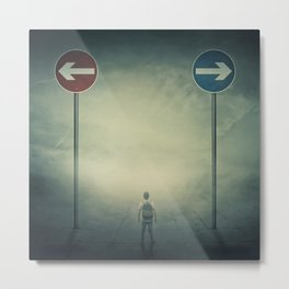 Choose the direction Metal Print