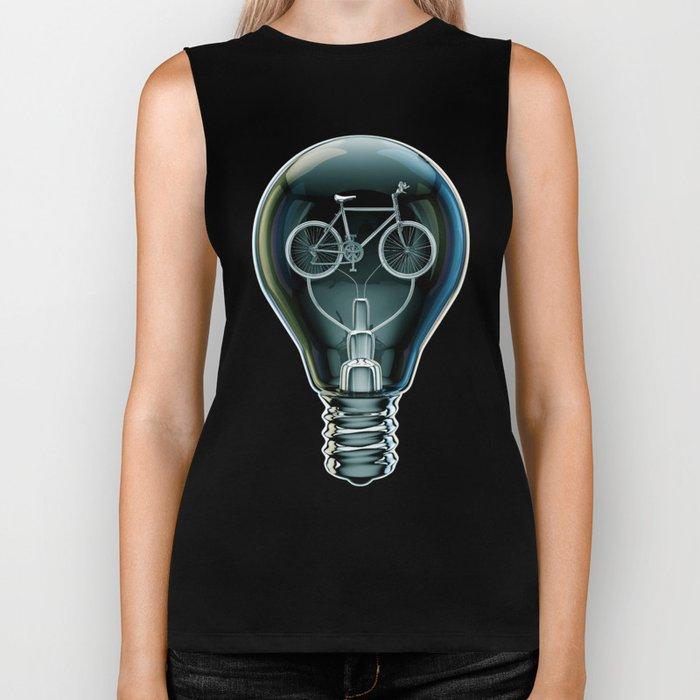 Dark Bicycle Bulb Biker Tank
