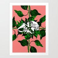 Deathvslife2 Art Print