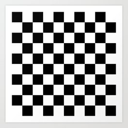 Black & White Checkered Pattern Art Print