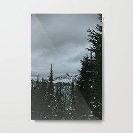 Mt Rainier Winter Scene Metal Print