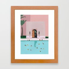 Middle Eastern Swims Framed Art Print