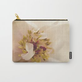 Eye of Peony Moody Midnight Floral / Botanical / Nature Photo Carry-All Pouch