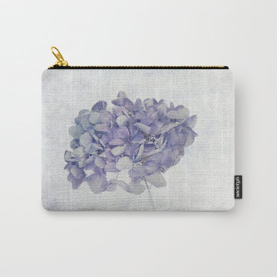 Blue Vintage Hydrangea Carry-All Pouch