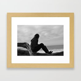 Beach Watching Framed Art Print