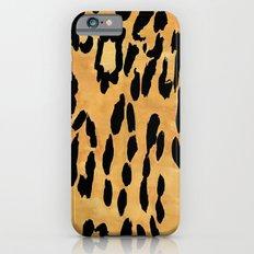 Yellow Leopard Print iPhone 6s Slim Case