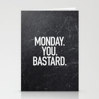 xbox Stationery Cards featuring Monday You Bastard by Text Guy