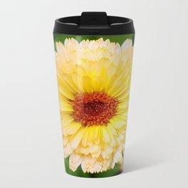 Beautiful Yellow Marigold Goldbloom Close Up  Travel Mug