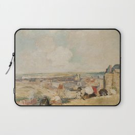 Jacques-Émile Blanche - View of Dieppe from the top of the Cliff Laptop Sleeve