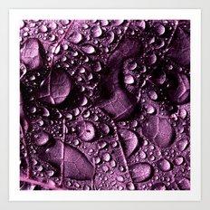 purple rain drops XXIV Art Print