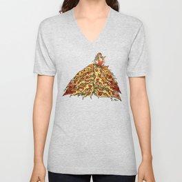 Pizza Peacock Mermaid Dress Unisex V-Neck