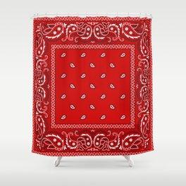 Paisley - Bandana - Red - Southwestern - Boho Shower Curtain