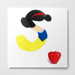S is for Snow White Metal Print