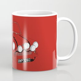 The Italian Job Red Mini Cooper Coffee Mug