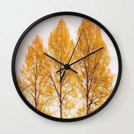 Aspen Trees #decor #buyart #society6 Wall Clock