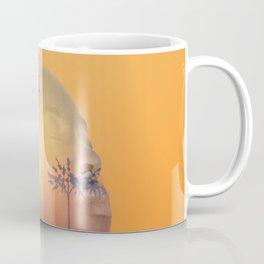 Portrait of Woman with Sunrise Nature Landscape Coffee Mug
