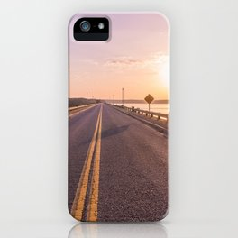 Sunset Road iPhone Case