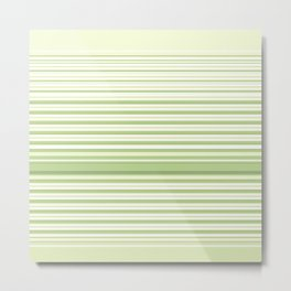 Light Green Stripes Metal Print