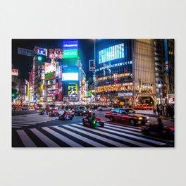 Here we go!!real mario cart at Shibuyacrossing Canvas Print