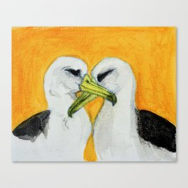 Orange Albatross Pair in Love Canvas Print