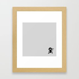 Mini Ninja Framed Art Print