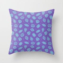 Gemstones Galore Throw Pillow