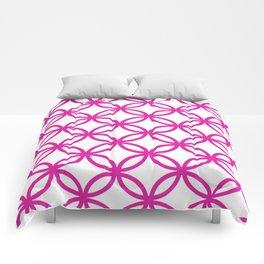 Interlocking Pink Comforters