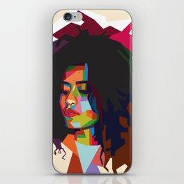 beautiful frizzy girl iPhone Skin