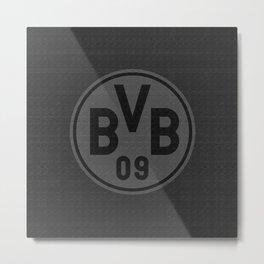 BORUSSIA D - ALL BLACK (w/o STARS) Metal Print