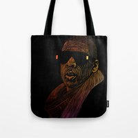 jay z Tote Bags featuring Jay-Z Color by William